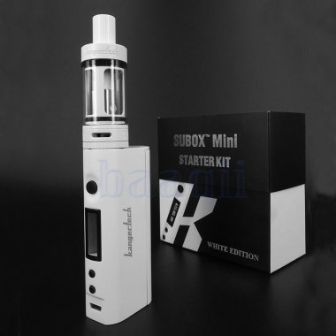Kanger SUBOX Nano 50W With Subtank RBA Drip Tip Tank Starter Kit - White