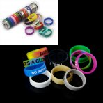10 X Vape Rings Silicone Anti Slip Bands for RBA RDA Tank Mechanical Mods - Random Color