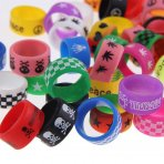 10 X Ring Silicone Anti Slip Band for RBA RDA Tank Vapor Mechanical Vape Mod - Random Color
