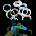 10 X Vape Ring Silicone Band Luminous Anti Slip for RDA Tank Mechanical Mods - Random Color