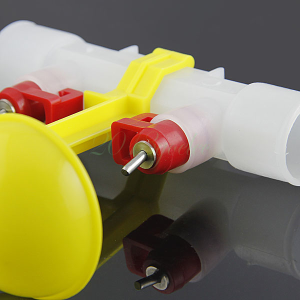 3pcs Dual Nipples Waterer Drinkers for Poultry Farm Chicken Duck Water Feeder