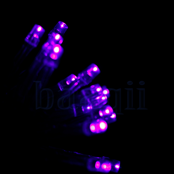 4M 4 5V 40 LED Battery Operated Wire Mini Fairy Light String Purple MA eBay