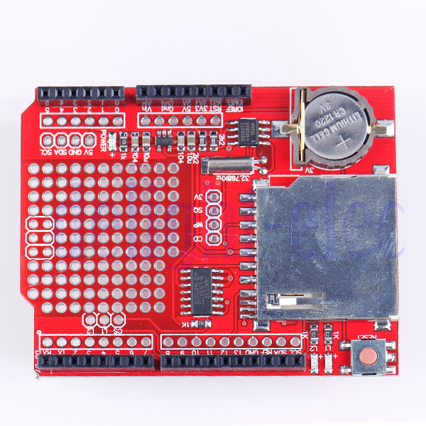 Data logging sd card socket shield with rtc real time