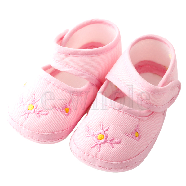 Baby-Newborn-Infant-Soft-Sole-11-5cm-Boy-Girl-Unisex-Pre-Walker-Shoes-Pink-DT