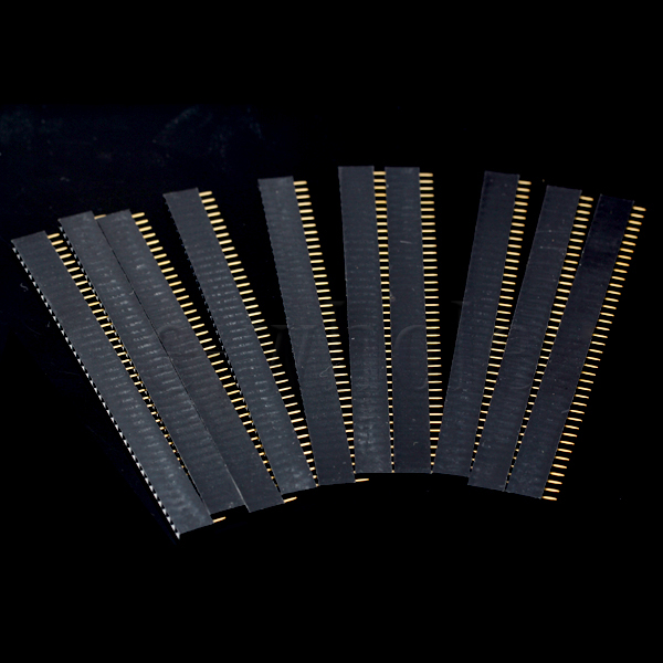10pcs-Female-Socket-PCB-DIY-Connector-40-Pin-1x40-2-54mm-40P-EW
