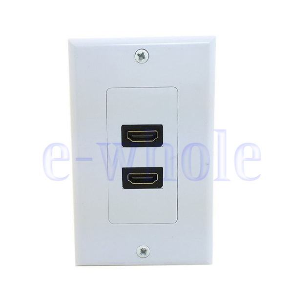 dual ports hdmi panel wall outlet cover face plate cable coupler extension tw ebay. Black Bedroom Furniture Sets. Home Design Ideas