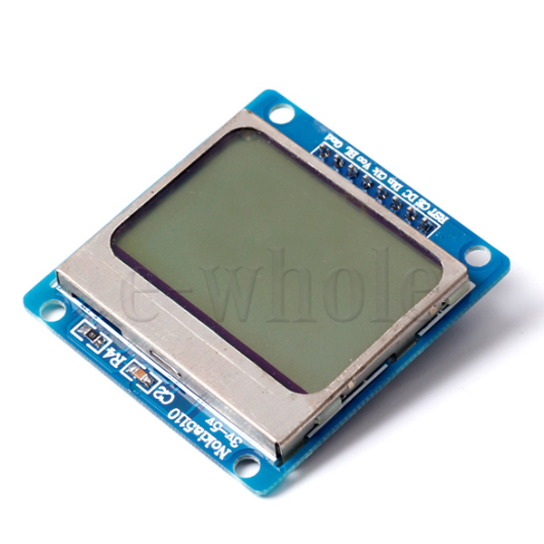 NEW-Blue-Backlight-LCD-Module-with-Adapter-PCB-for-Arduino-Nokia-5110