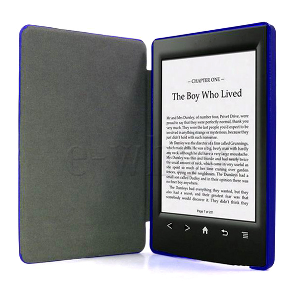 Kindle Vs Sony Reader: Dark Blue Case Cover Bag PU Leather Fir For Ebook Sony PRS