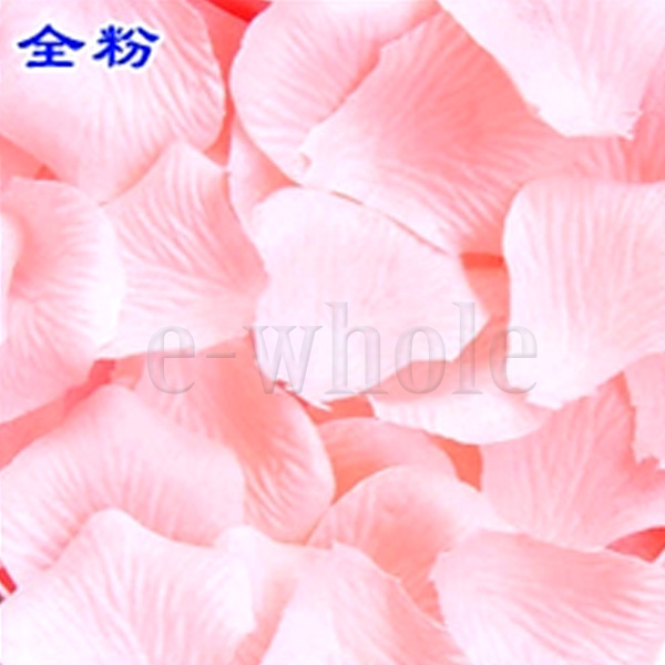 2 Pack / 200PCS Silk Rose Petals Wedding Fake Flower Favors Supply BE