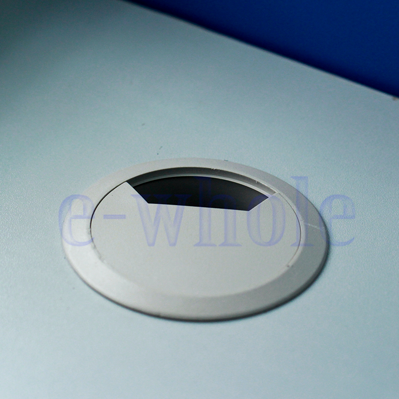 50mm office computer desk cable hole covers plastic grommets gray hm ebay. Black Bedroom Furniture Sets. Home Design Ideas