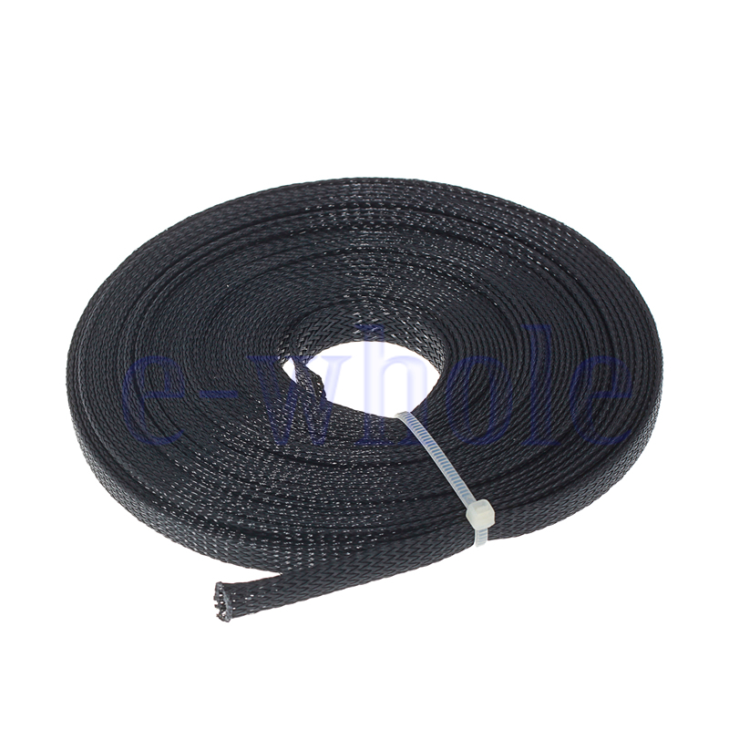 10m 8mm expandable braided sleeving cable harness hose cable protection ew. Black Bedroom Furniture Sets. Home Design Ideas