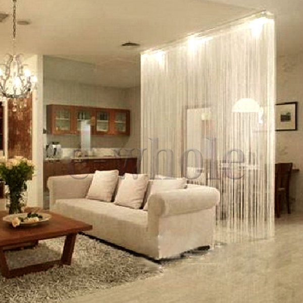 White Fringe Door Window Panel Room Divider String Curtain Strip Tassel HG417
