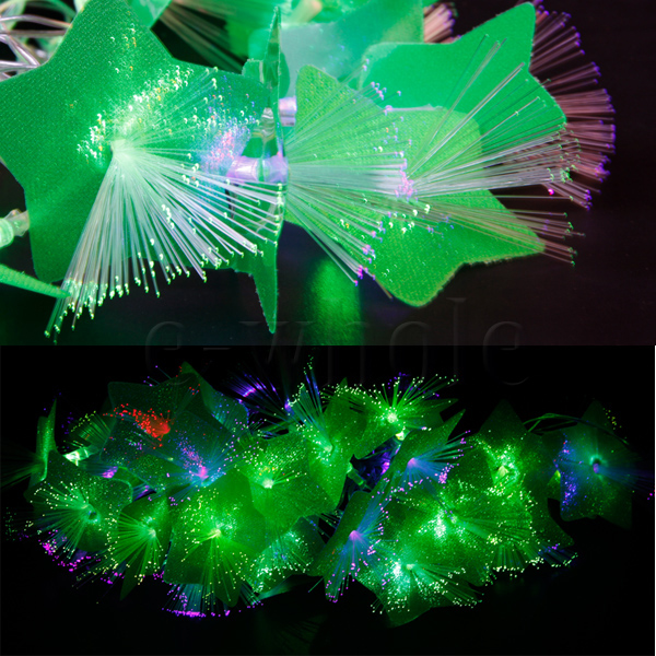 Green Flower String Lights : 5M Optical Fiber RGB LED String Lamp Light Christmas Wedding Green Petal EW eBay