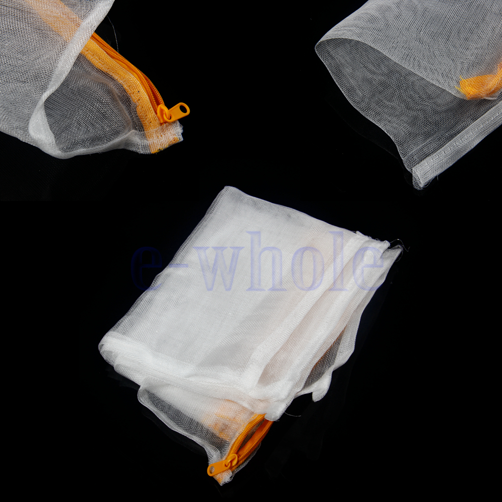 5x nylon mesh aquarium pond filter media bag net bag for Fish pond filter mesh