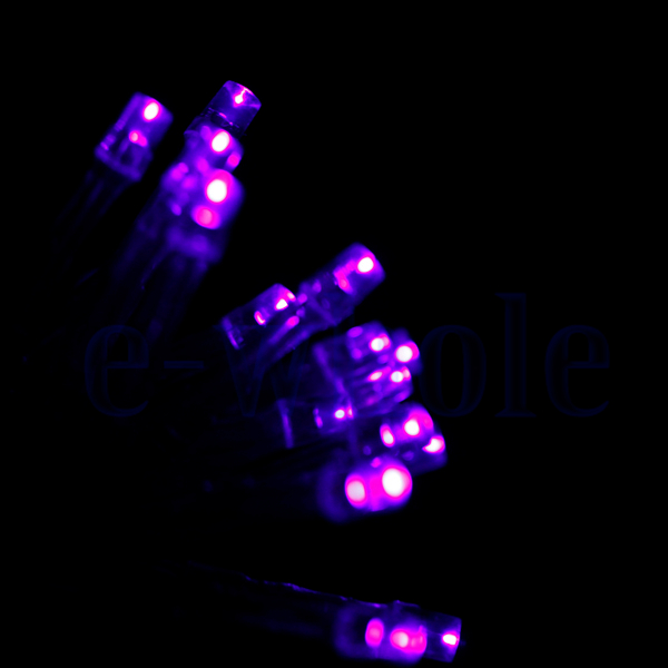 4M 4.5V 40-LED Battery Operated Wire Mini Fairy Light String Purple EW eBay