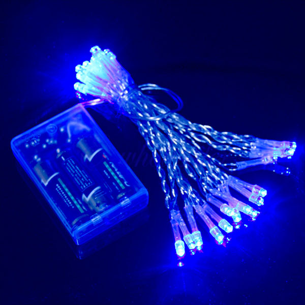 200 30 40 LED Portable Battery Powered String Fairy Lights Flash Modes XMAS D