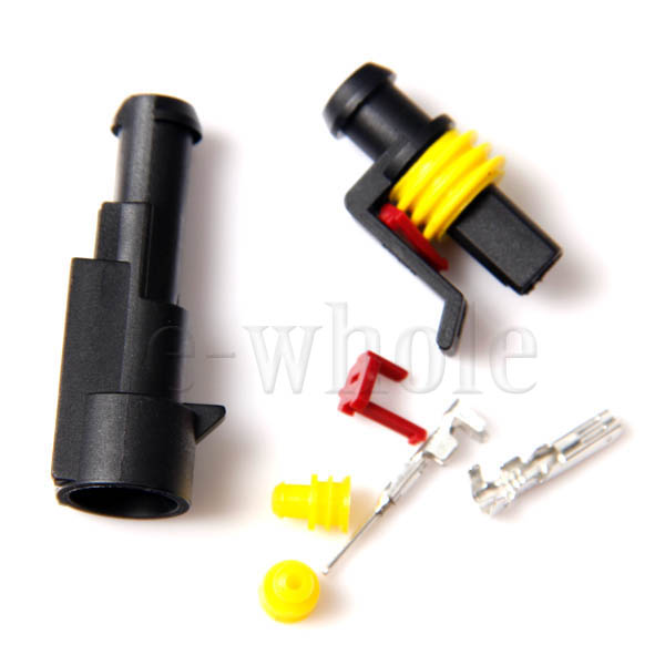 1-Pin-Way-Waterproof-Car-Electrical-Wire-Connector-Plug-Plastic-HID-Kit-EW