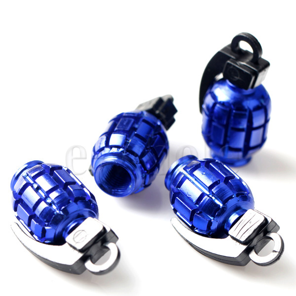 4pcs-Grenade-Metal-Dust-Caps-Cycle-Motor-Bicycle-MTB-BMX-Car-Tyre-Valve-WT