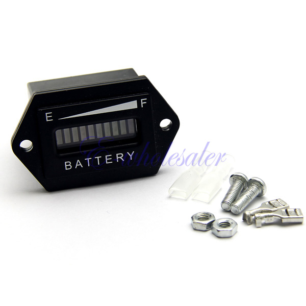 12v Rv Battery Monitor : V battery indicator meter tri colors rectangle for