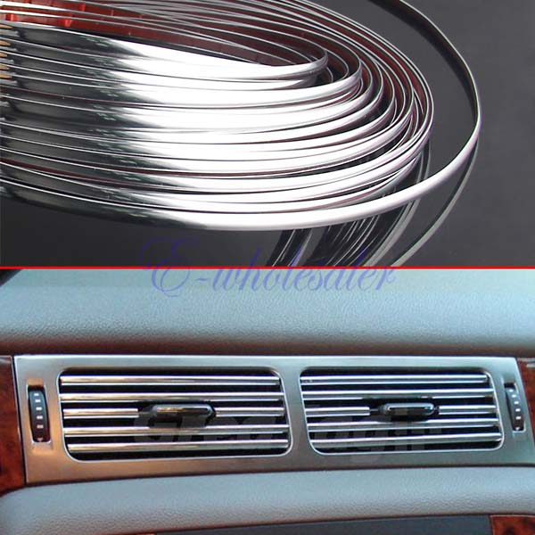 6MM-X-48FT-DECORATION-CHROME-SILVER-MOULDING-TRIM-CAR-BUMPER-PROTECTOR-STRIP