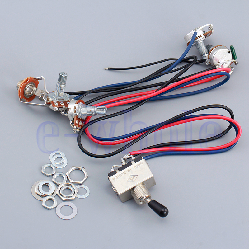 Wiring Harness 2 Volume 2 Tone For Dual Humbucker 3 Way
