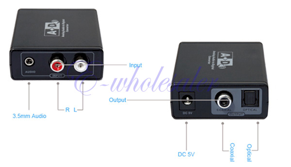 how to connect analog stereo to digital tv