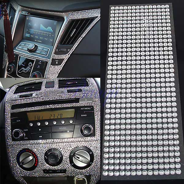 504pc 6mm silver rhinestone crystal bling decor sticker for auto car iphone diy ebay. Black Bedroom Furniture Sets. Home Design Ideas