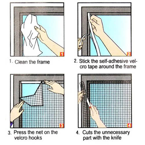 Insect fly bug mosquito door window net netting mesh for Mesh for windows and doors
