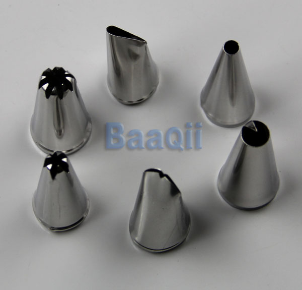 Types Of Cake Decorating Nozzles : 6pcs Types Stainless Steel Icing Piping Pastry Nozzles ...