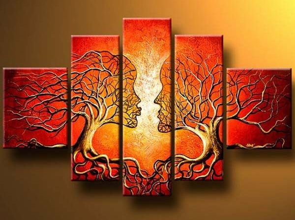 Abstract Fine Art Wall Decor Canvas Painting Life And Tree 2 EBay