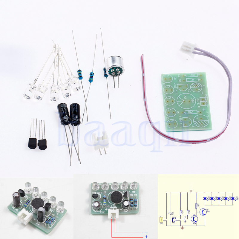 Details About 3 5 5v Sound Activated Led Melody Light Lamp Module Electronic Diy Ma
