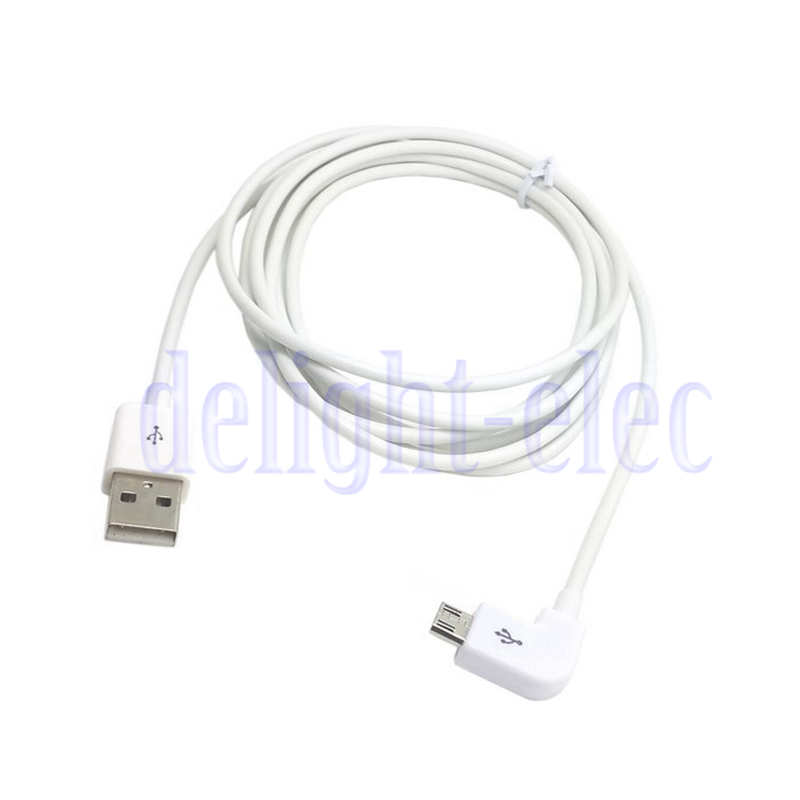 5m micro usb to usb data charge cable left angled for mobile phone  u0026tablet wh dg