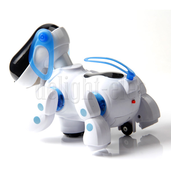 Robotic Electronic Walking Singing Pet Dog Puppy with Music Light Kid Toy Gift