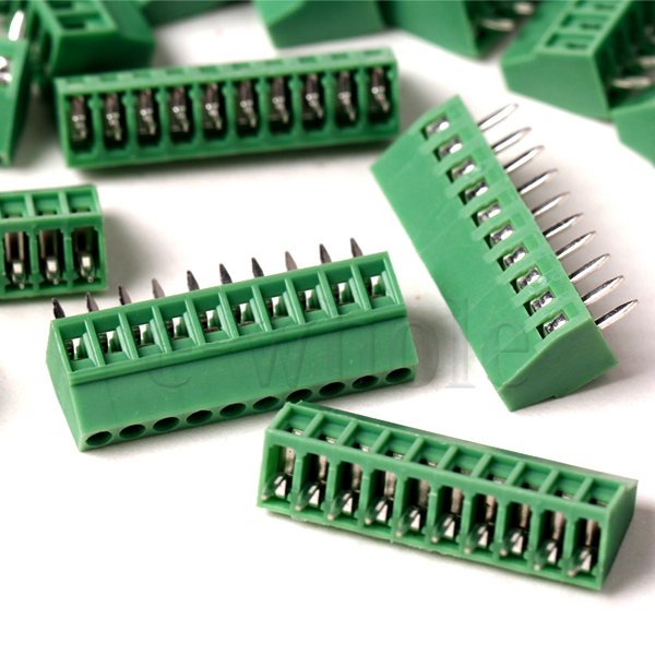 5pcs 10 Poles/10 Pin 2.54mm/0.1  PCB Universal Screw Terminal Block Connector  sc 1 st  eBay : wiring terminal blocks - yogabreezes.com