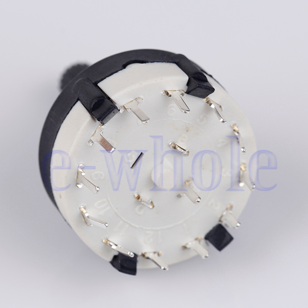 1x1 Pole 12 Position PANEL PCB Wiring Rotary Switch 1P12T LQ