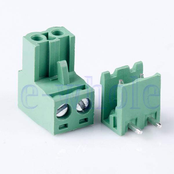 10pcs Block Terminal Wire Connectors 2EDG 5.08-2P Right Angle K6 | eBay