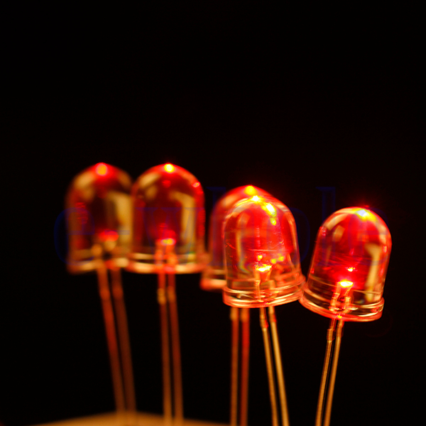 50pcs Superbright 10mm Round White LED Light Lamp Ultra Bright Red HM