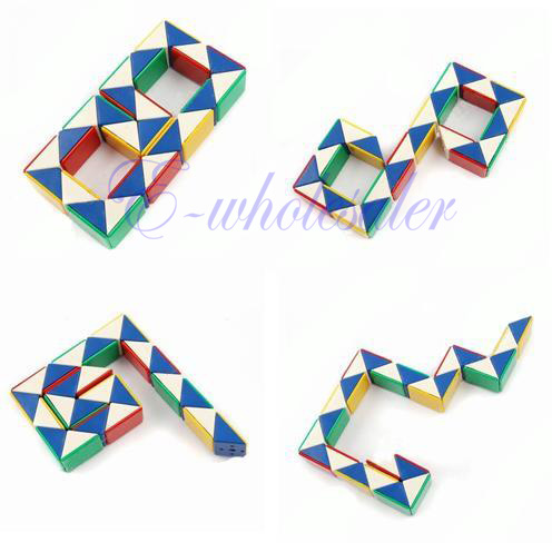 Magic Toy Game 3D Snake Rubik Rubix Rubic Cube Puzzle DIY Various Shape