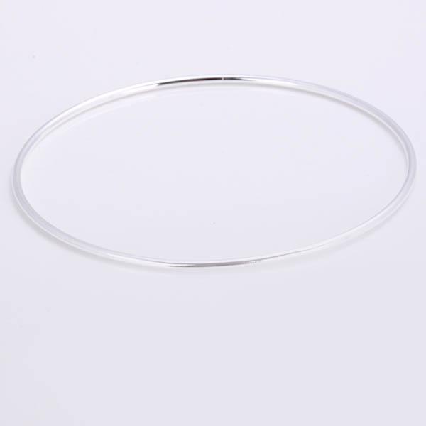Simpleness Tremendous Mesh Silver Plated Bangle Bracelet 6.5CM JW1362 HM