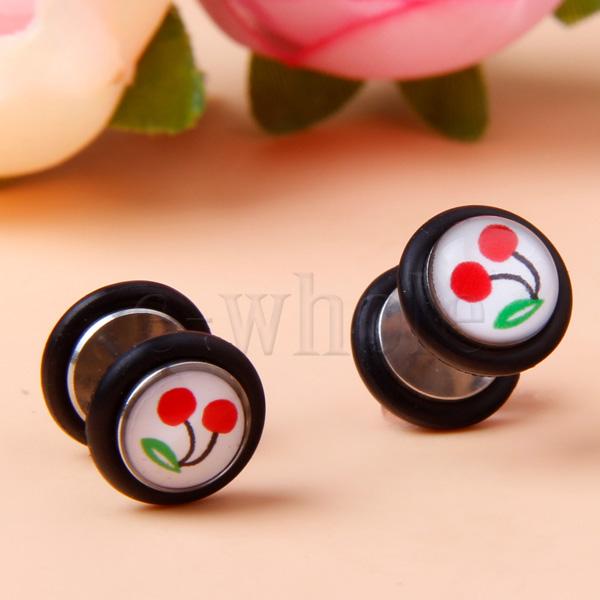 6 Acrylic UV Spiral Ear Taper Stretcher Plug Expander 6mm 3 Colors JW440