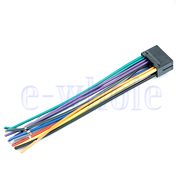 16 pin jvc car stereo radio wire wiring harness plug cabke hw ebay jvc wiring harness colors 16 pin jvc car stereo radio wire wiring harness plug cabke