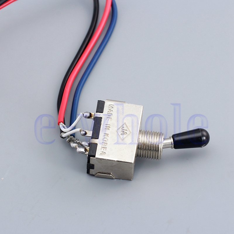 Way Wiring Harness 2v 2t Toggle Switch 500k Pots For Dual Humbucker