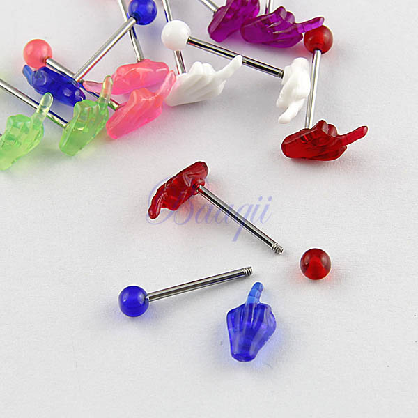 TR210 316l Surgical Steel *FBOOK ONE LIKE /& F--KBOOK* Tongue Ring