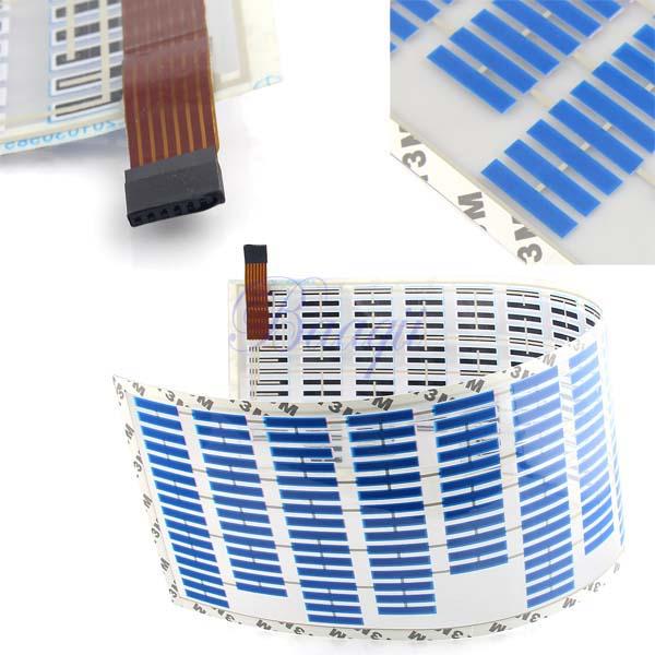 700mm 160mm Blue Sound Music Activated Sensor Car Sticker Light Lamp Equalizer